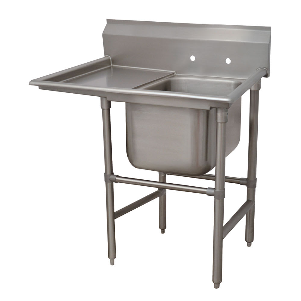 "Advance Tabco 94-41-24-24L 54"" 1 Compartment Sink w/ 24""L x 24""W Bowl, 14"" Deep"