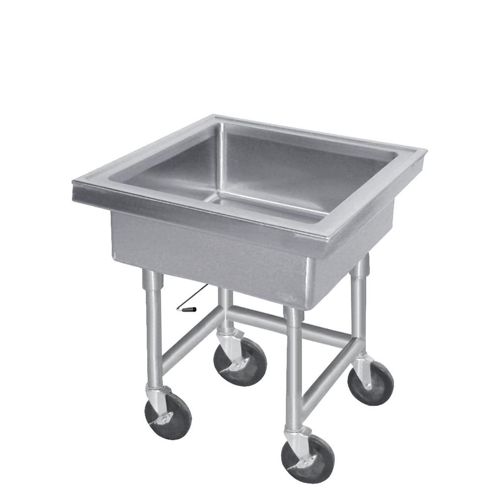 "Advance Tabco 9-FMS-20 34""H Portable Soak Sink w/ 8""D Bowl, Drain Connection"