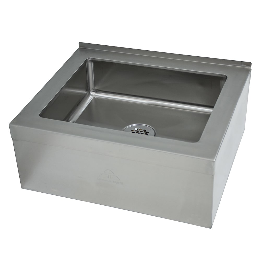 "Advance Tabco 9-OP-20 Floor Mount Mop Sink w/ 6""D Bowl, Tile Edge"