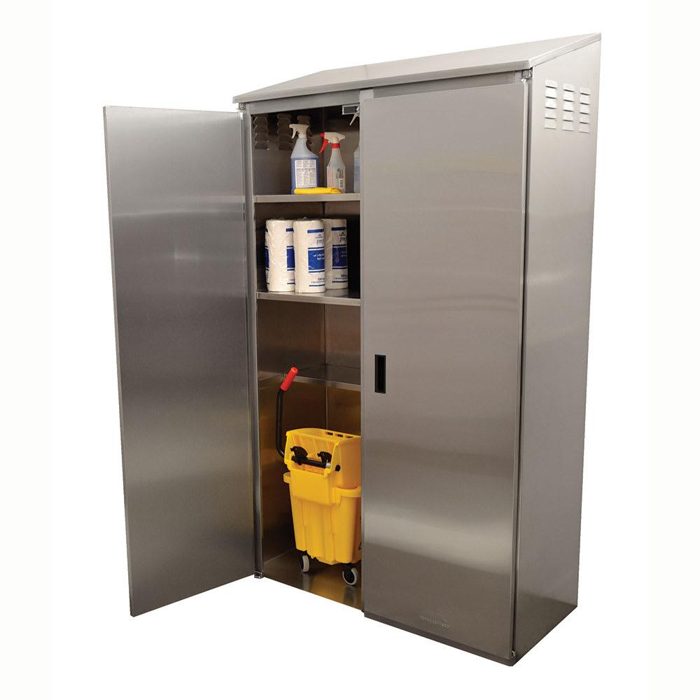 "Advance Tabco 9-OPC-84DR Cabinet Mop Sink w/ 12""D Bowl"