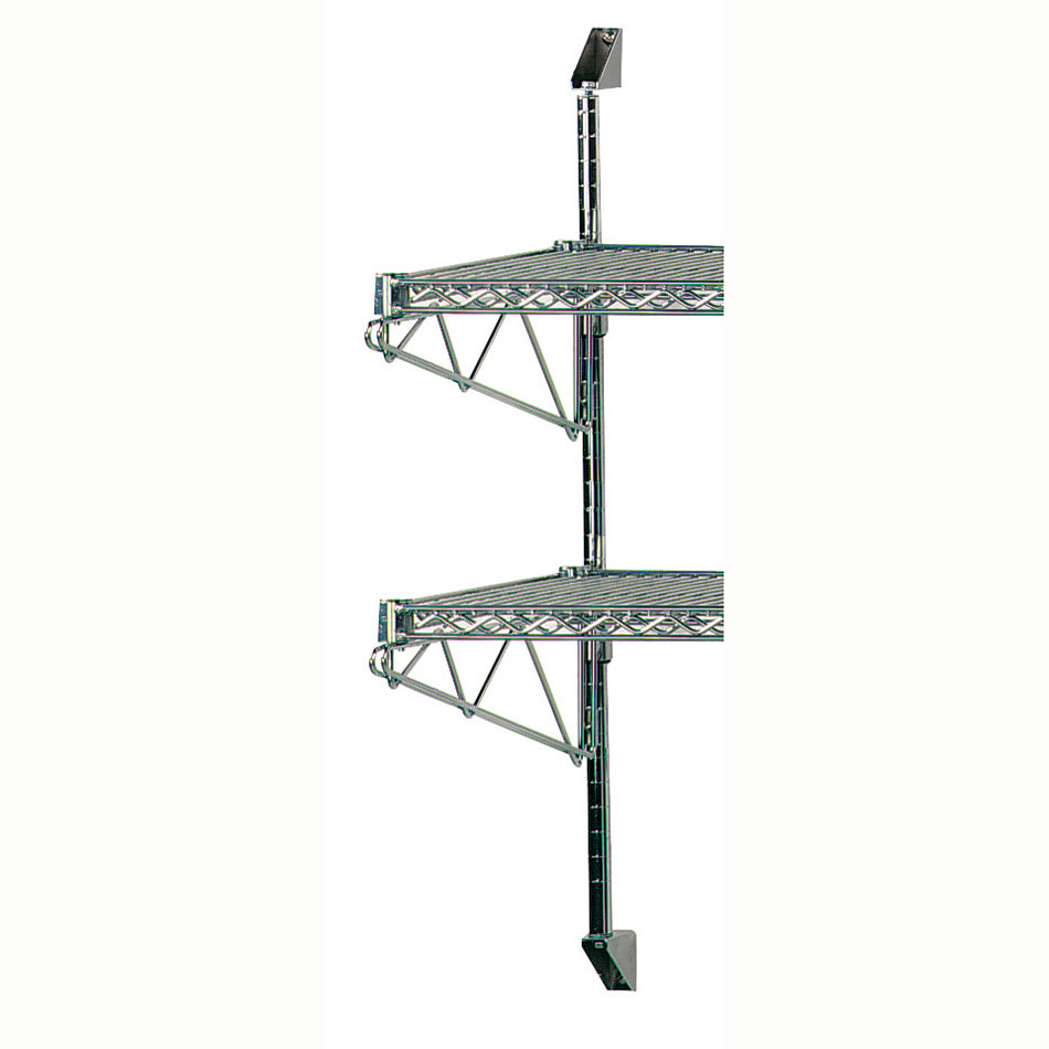 "Advance Tabco AB2-18 28"" Wire Wall Mounted Shelving Posts & Brackets w/ Mounting Hardware"