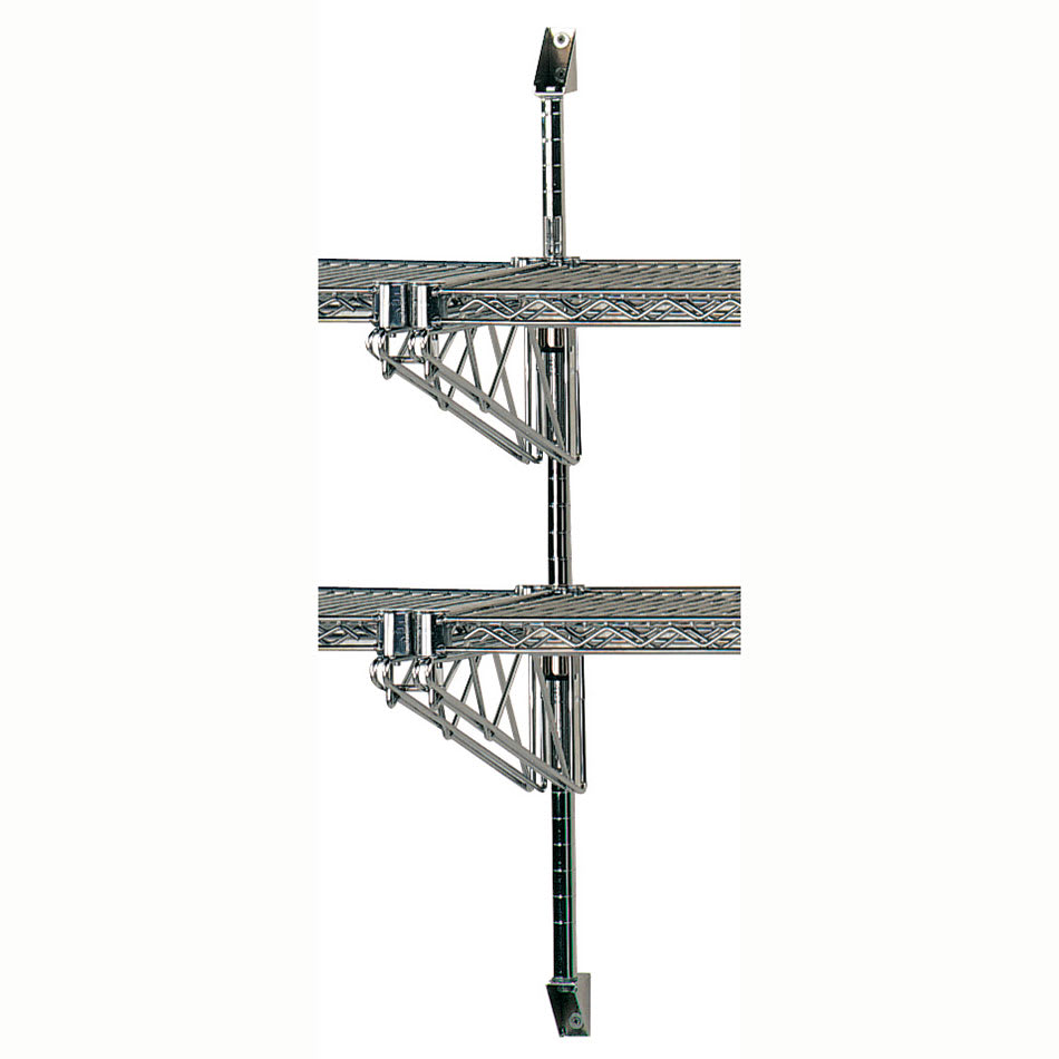 "Advance Tabco ABM2-14 28"" Wire Wall Mounted Shelving Post & Brackets w/ Mounting Hardware"
