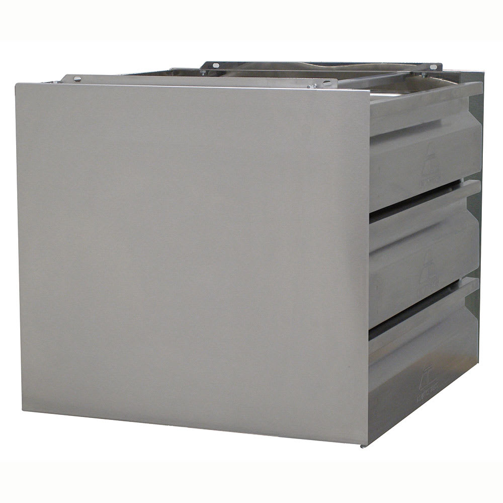 Advance Tabco ADT-3-2020 Drawer Assembly - Side Panels, 3-Tier, 20x20x5