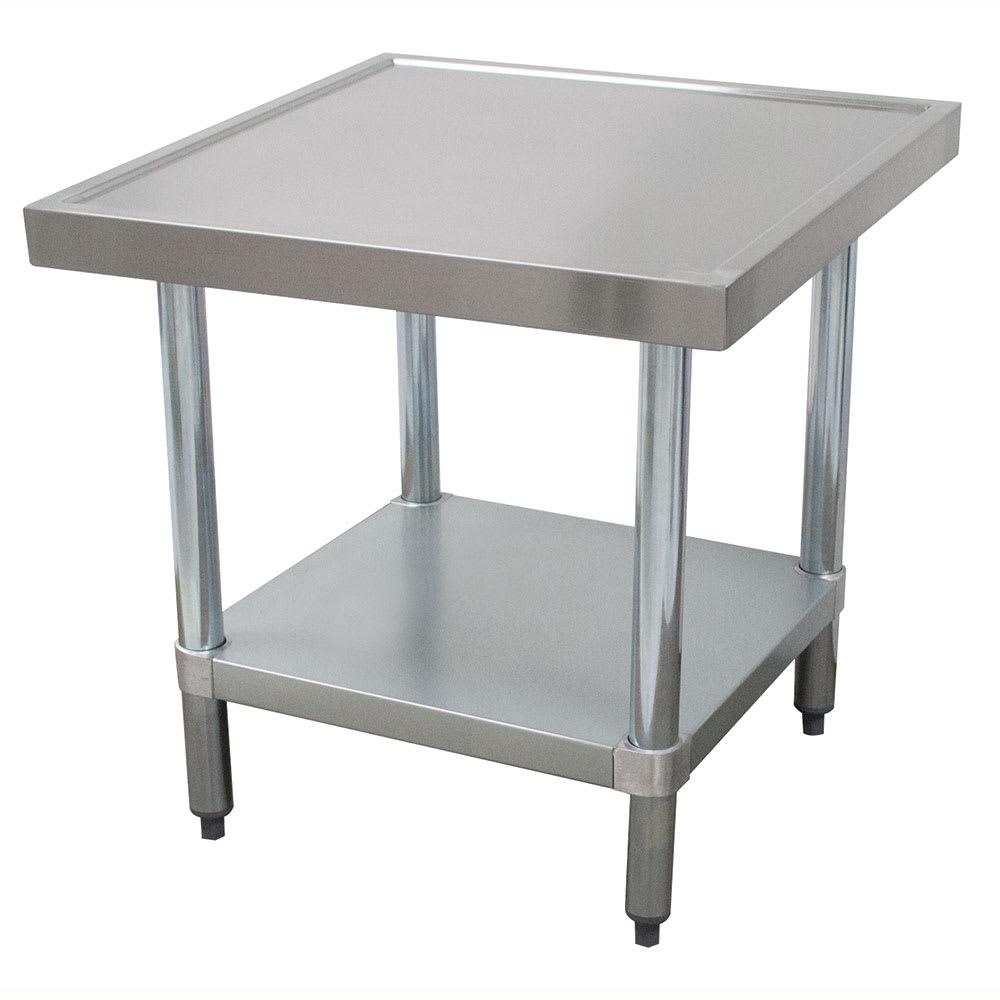 "Advance Tabco AG-MT-302 24"" Mixer Table w/ Galvanized Undershelf Base & Marine Edge, 30""D"
