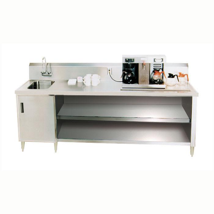 """Advance Tabco BEV-30-48L 48"""" Beverage Table w/ Left Side Sink & Drain Trough, 30""""D"""