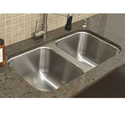 "Advance Tabco CO3319RE Weld"" Sink Bowl - 2-Compartments for Under Mount, 14x16x10"", 18-ga 304-Stainless"