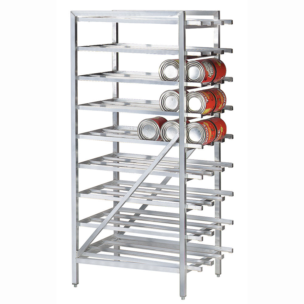 """Advance Tabco CR10-162 71""""H Stationary Can Rack w/ (162) #10 or (216) #5 Capacity"""