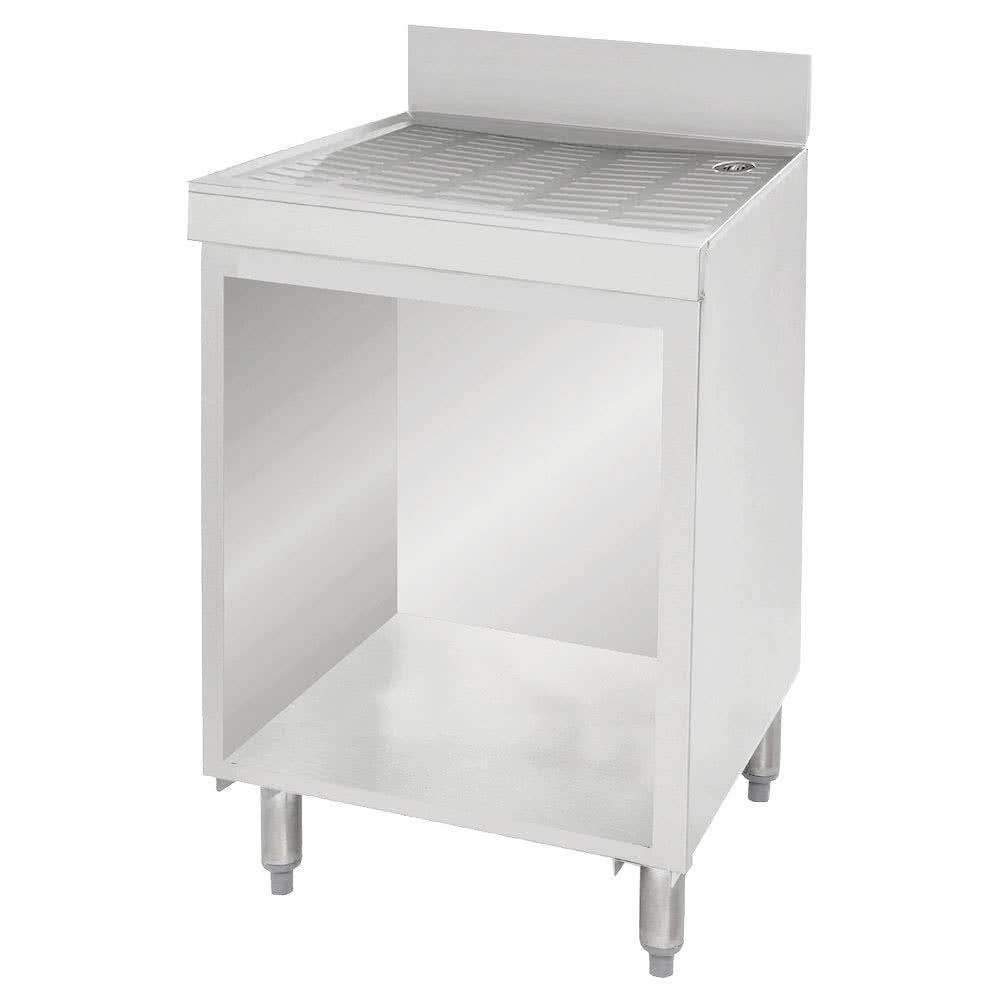 "Advance Tabco CRD-2B Under Bar Drainboard Cabinet w/ 4"" Backsplash - 24"" x 21"" x 33"", Stainless"