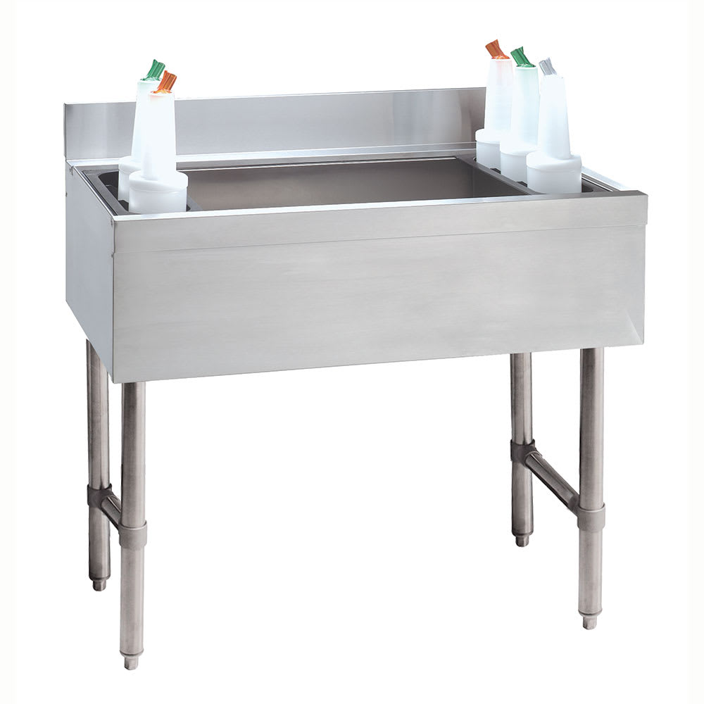 "Advance Tabco CRI-12-24-X Cocktail Unit and Ice Bin, Bottle Racks, 12"" D Ice Bin, Stainless"