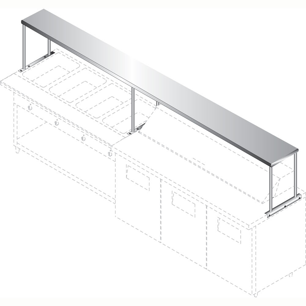 """Advance Tabco CU-18-132 132"""" Solid Table Mounted Shelving"""