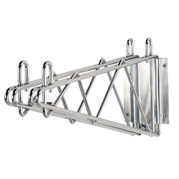 "Advance Tabco DB-14 Bracket for 14"" Deep Wall Mounted Shelf, Chrome"