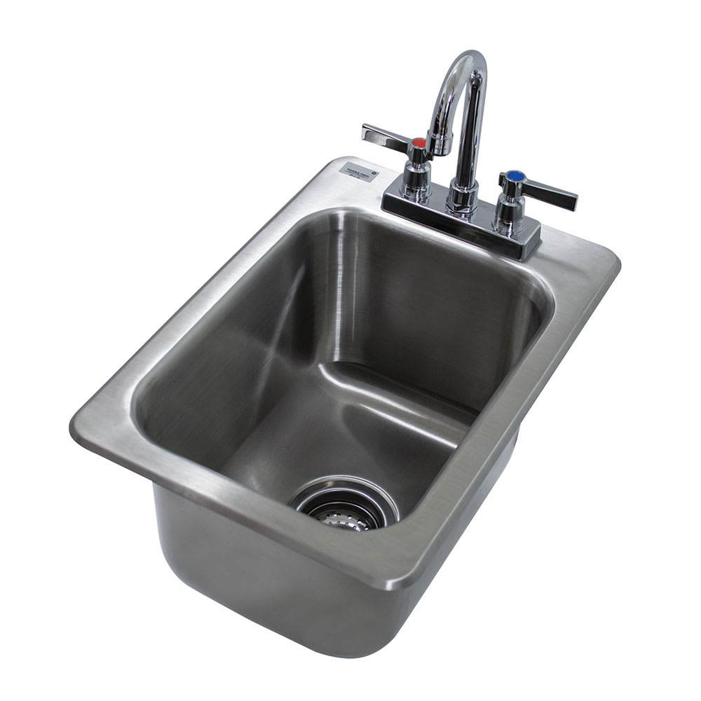 "Advance Tabco DI-1-10 (1) Compartment Drop-in Sink - 10"" x 14"", Drain Included"