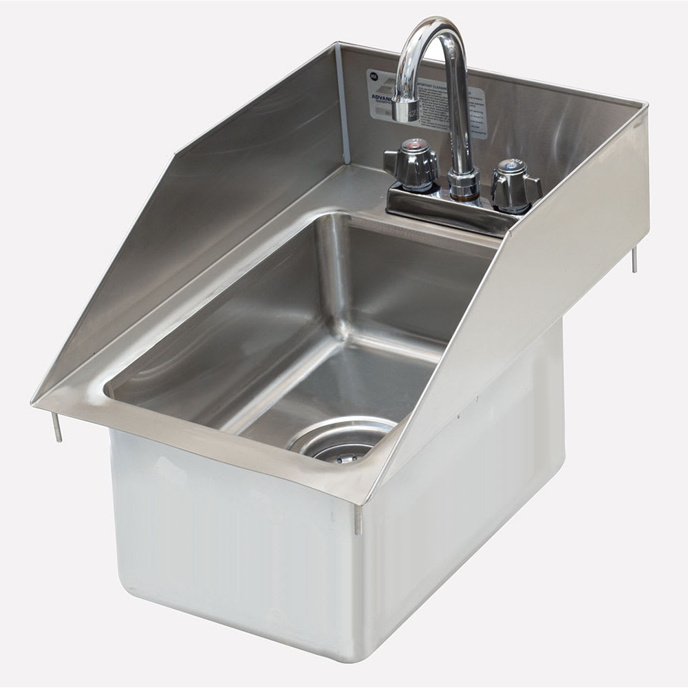 "Advance Tabco DI-1-10SP-EC-X 13"" 1-Compartment Sink w/ 10"" x 14"" x 10"" Bowl"