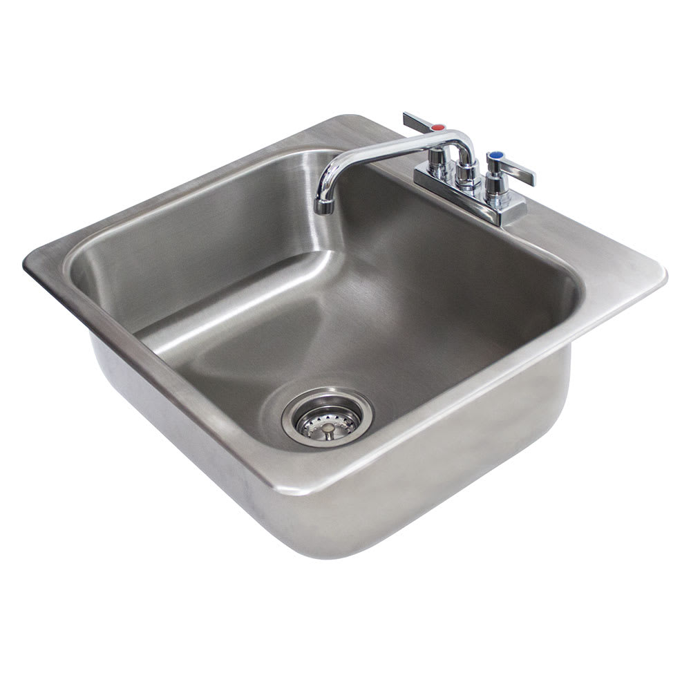 "Advance Tabco DI-1-208 (1) Compartment Drop-in Sink - 20"" x 16"", Drain Included"