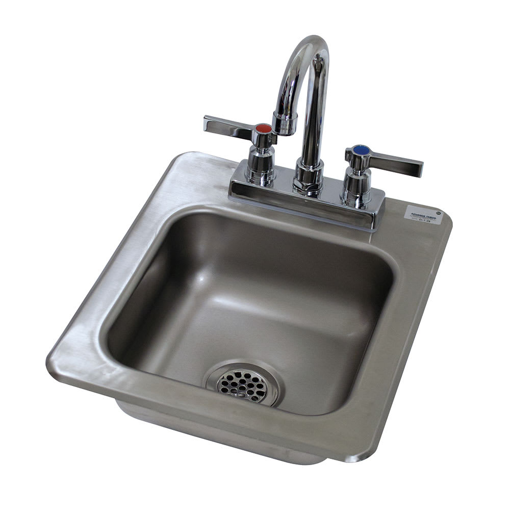 "Advance Tabco DI-1-25 (1) Compartment Drop-in Sink - 9"" x 9"", Drain Included"