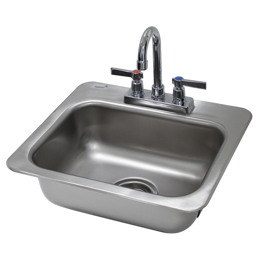 "Advance Tabco DI-1-35 (1) Compartment Drop-in Sink - 14"" x 10"", Drain Included"