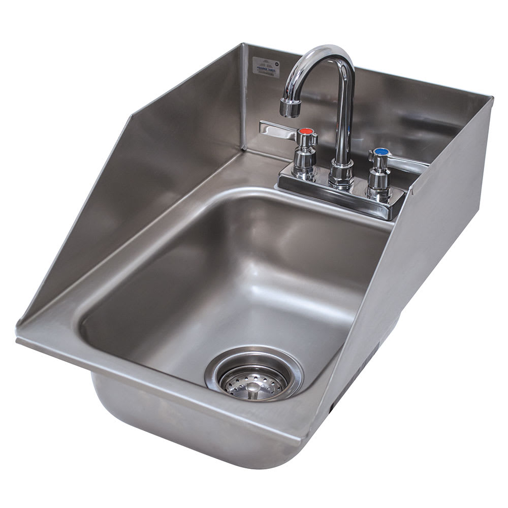 Advance tabco di 1 5sp 1 compartment drop in sink 10 x 14 drain included