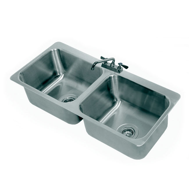 "Advance Tabco DI-2-2012 (2) Compartment Drop-in Sink - 20"" x 16"", Drain Included"