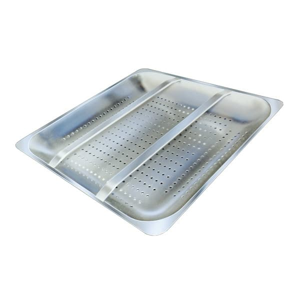 """Advance Tabco DTA-62 Pre Rinse Basket - Welded Slide Bar for 20x20"""" Pre Rinse Sink Bowls"""