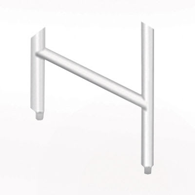 Advance Tabco DTA-81 Leg Assembly - Welded Cross Brace for Dish Tables, Stainless