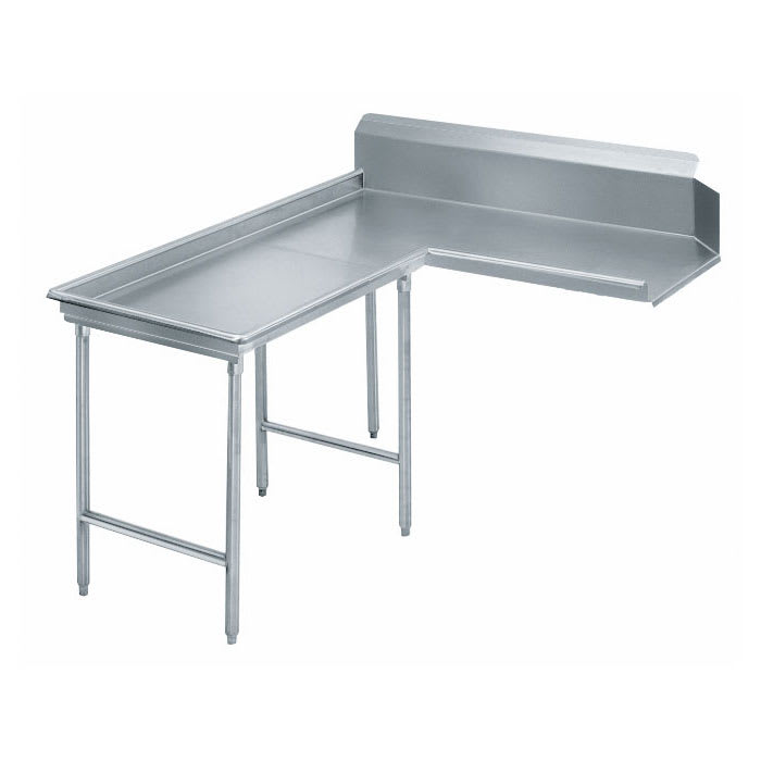 "Advance Tabco DTC-G70-144L 143"" Dishtable - Island Style, Crossrails, Stainless Legs, R-L, 14 ga 304 Stainless"