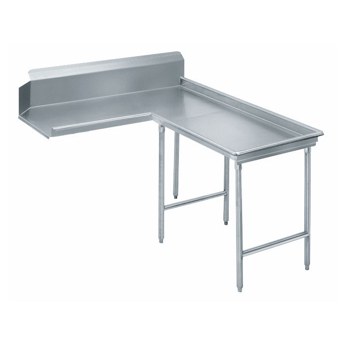 "Advance Tabco DTC-G70-144R 143"" Dishtable - Island Style, Crossrails, Stainless Legs, L-R, 14-ga 304-Stainless"