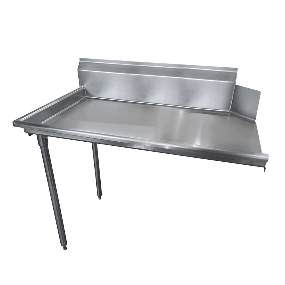 "Advance Tabco DTC-S30-36L Straight Dishtable - R-L Operation, Stainless Legs, 35x30x34"", 14 ga 304 Stainless"