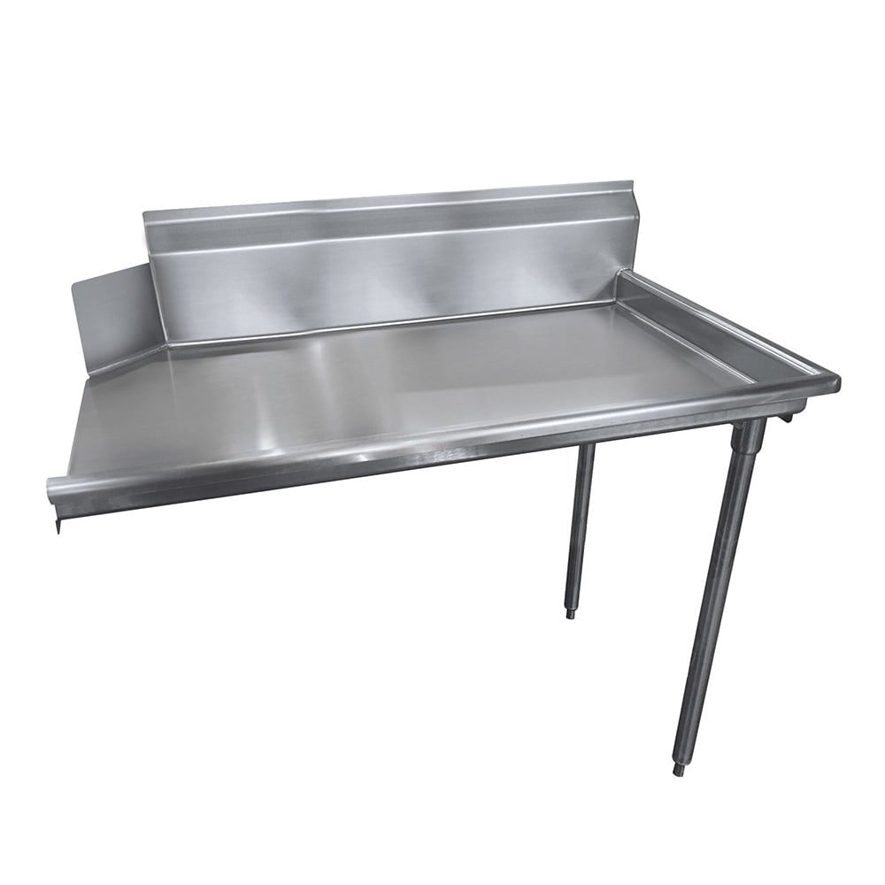 "Advance Tabco DTC-S60-48R Straight Dishtable - L-R Operation, Galvanized Legs, 48x30x34"", 304 Stainless"