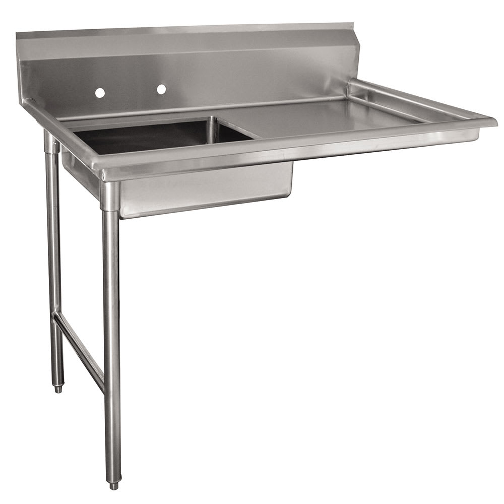"Advance Tabco DTU-U60-48L L-R Undercounter Dishtable Assembly - 20x20x5"" Bowl, 48x30"" table, Stainless"