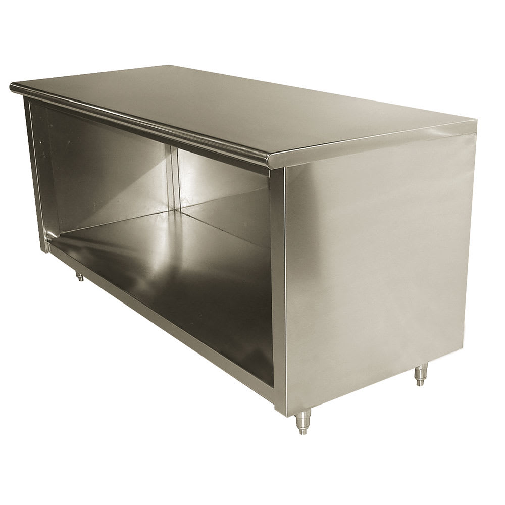 """Advance Tabco EB-SS-249 108"""" Enclosed Work Table w/ Open Base, 24""""D"""