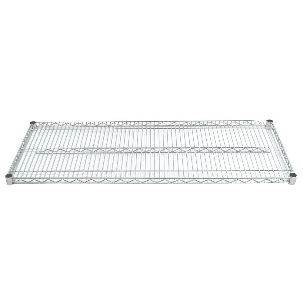 "Advance Tabco EC-2172 Chrome Wire Shelf - 72""W x 21""D"