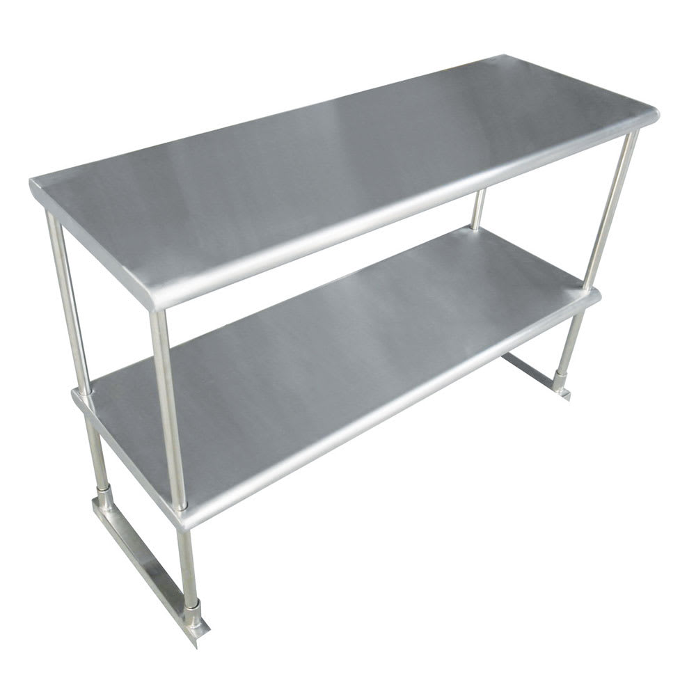 "Advance Tabco EDS-12-60 60.25"" Table-Mount Double Overshelf, Stainless"