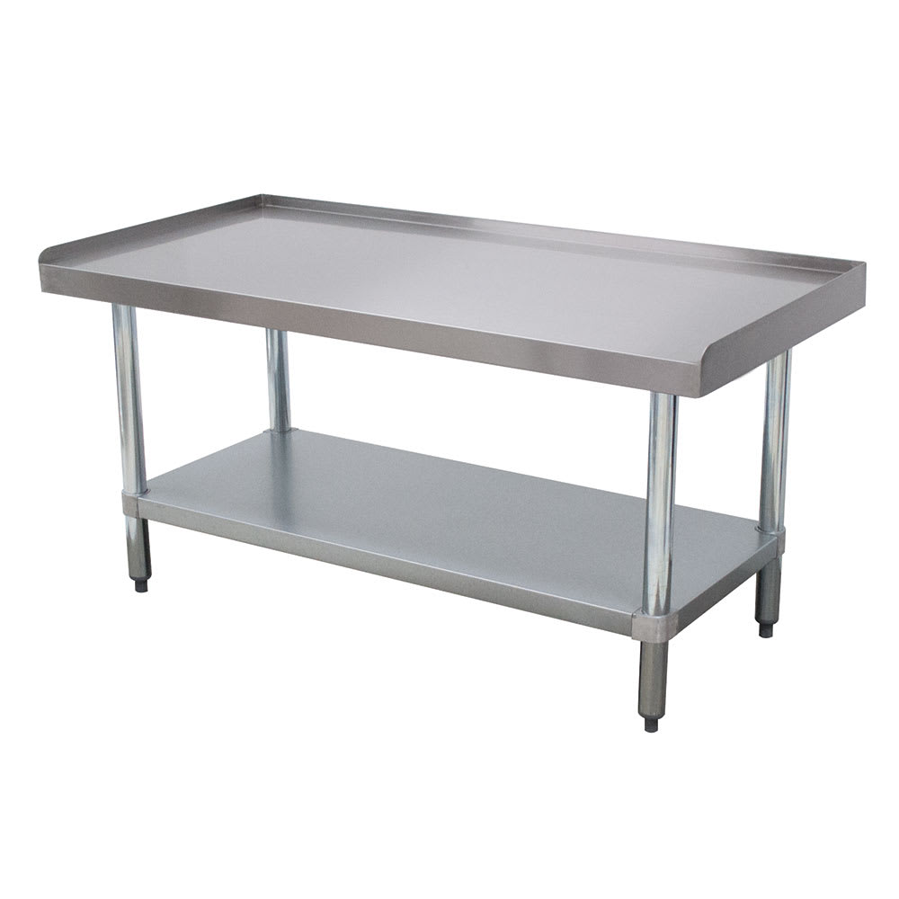 "Advance Tabco EG-307 84"" x 30"" Stationary Equipment Stand for General Use, Undershelf"