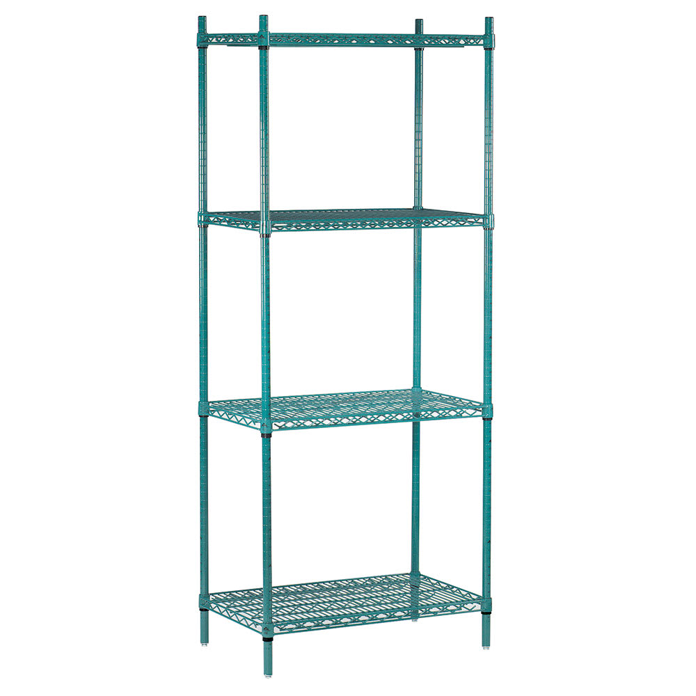 Advance Tabco EGG-1460 Epoxy Coated Wire Shelving Unit w/ (4) Levels, 14x60x74""