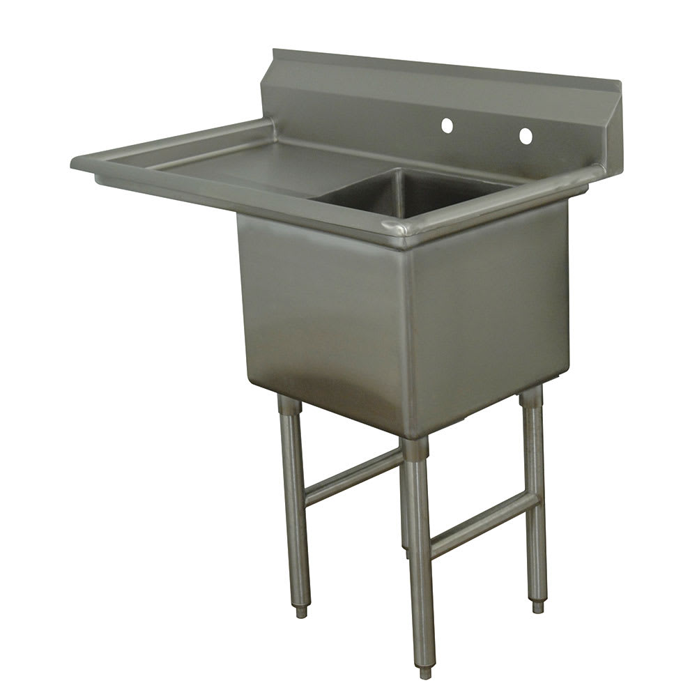 "Advance Tabco FC-1-1620-18L 36.5"" 1 Compartment Sink w/ 16""L x 20""W Bowl, 14"" Deep"