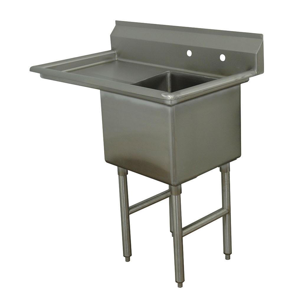 """Advance Tabco FC-1-1824-24L 44.5"""" 1-Compartment Sink w/ 18""""L x 24""""W Bowl, 14"""" Deep"""