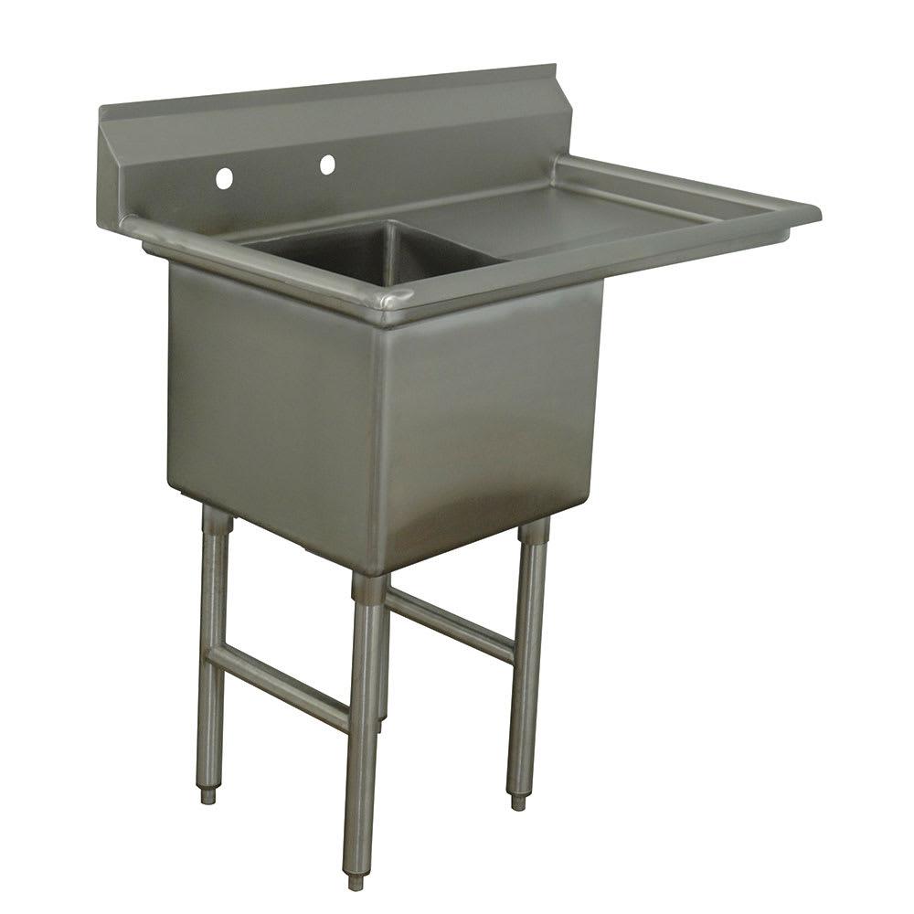 """Advance Tabco FC-1-2424-18R 44.5"""" 1-Compartment Sink w/ 24""""L x 24""""W Bowl, 14"""" Deep"""