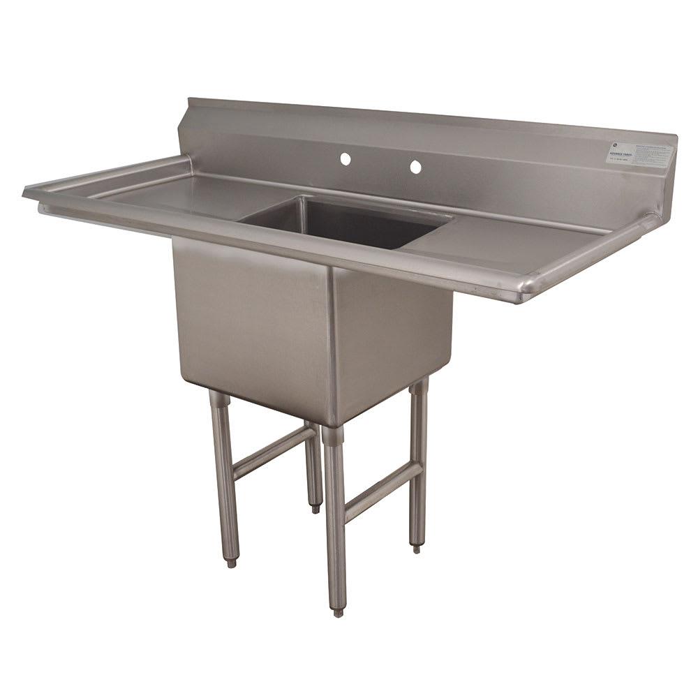 """Advance Tabco FC-1-2424-24RL 72"""" 1-Compartment Sink w/ 24""""L x 24""""W Bowl, 14"""" Deep"""
