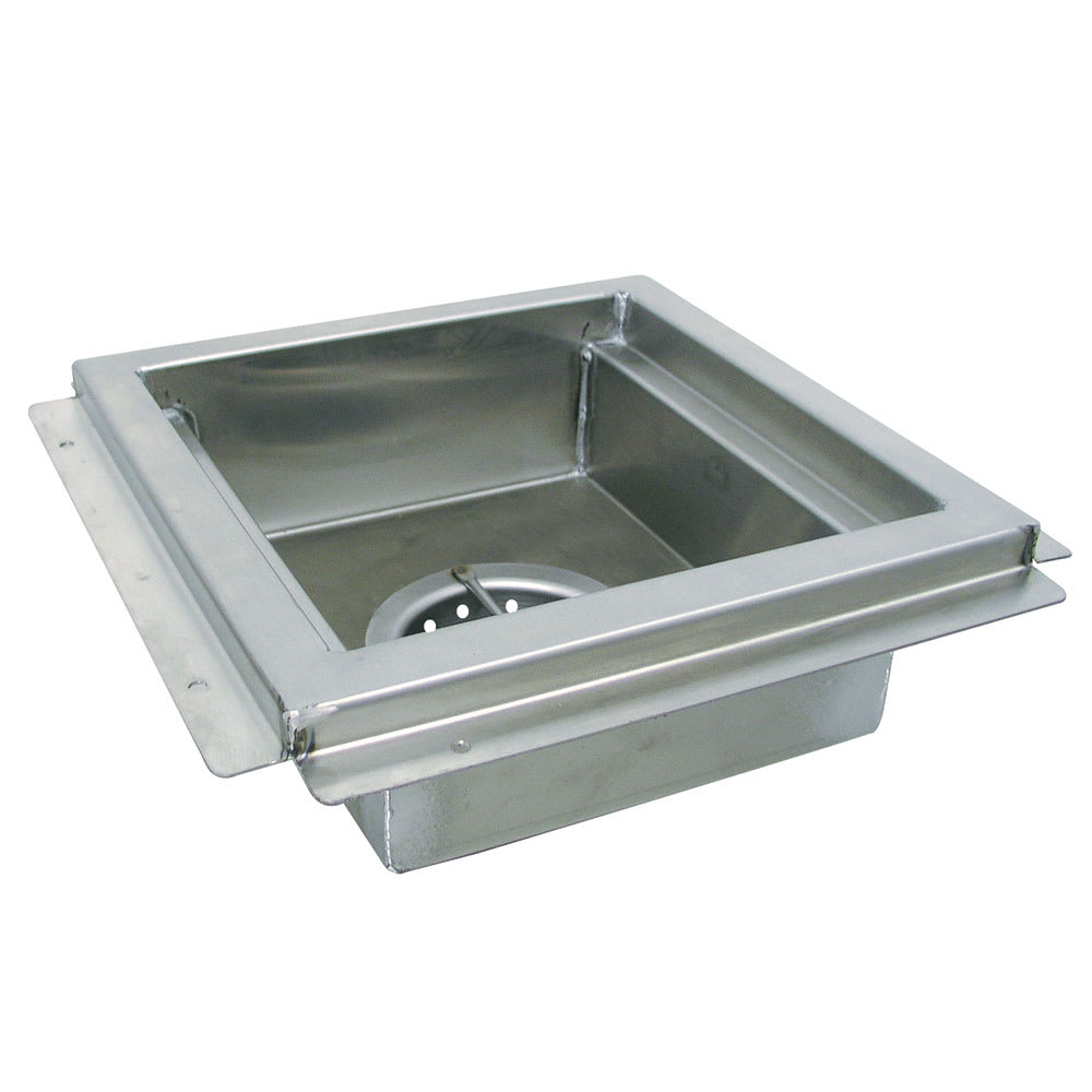 "Advance Tabco FDR-1212 Floor Drain - Waste Cup, Removable Basket, 12x12x4"", Stainless"