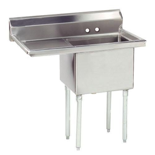 "Advance Tabco FE-1-1620-18L 1 Compartment Sink w/ 16""W x 20""L Bowl, 12"" Deep"