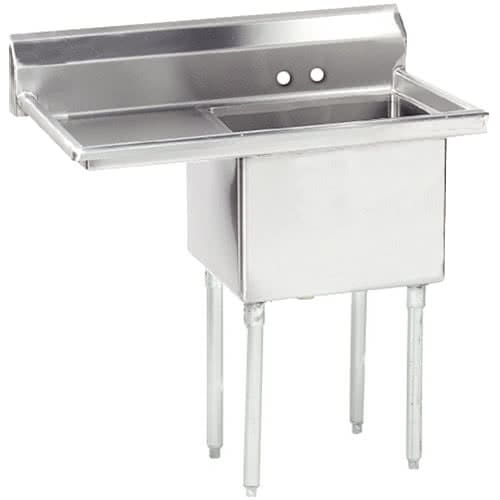 "Advance Tabco FE-1-1620-18R 1 Compartment Sink w/ 16""W x 20""L Bowl, 12"" Deep"