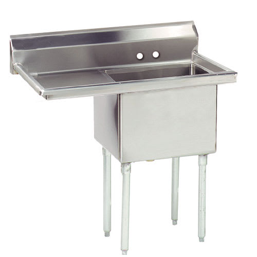 "Advance Tabco FE-1-1812-18L-X 54"" 1-Compartment Sink w/ 18""L x 18""W Bowl, 12"" Deep"
