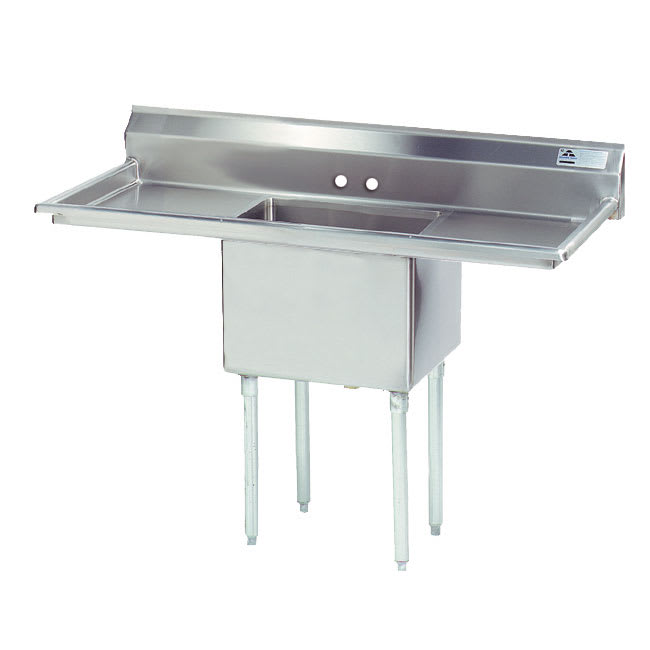 "Advance Tabco FE-1-1812-18RL 54"" 1 Compartment Sink w/ 18""L x 18""W Bowl, 12"" Deep"