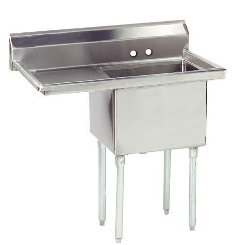 """Advance Tabco FE-1-1824-24L-X 45"""" 1-Compartment Sink w/ 18""""L x 24""""W Bowl, 14"""" Deep"""