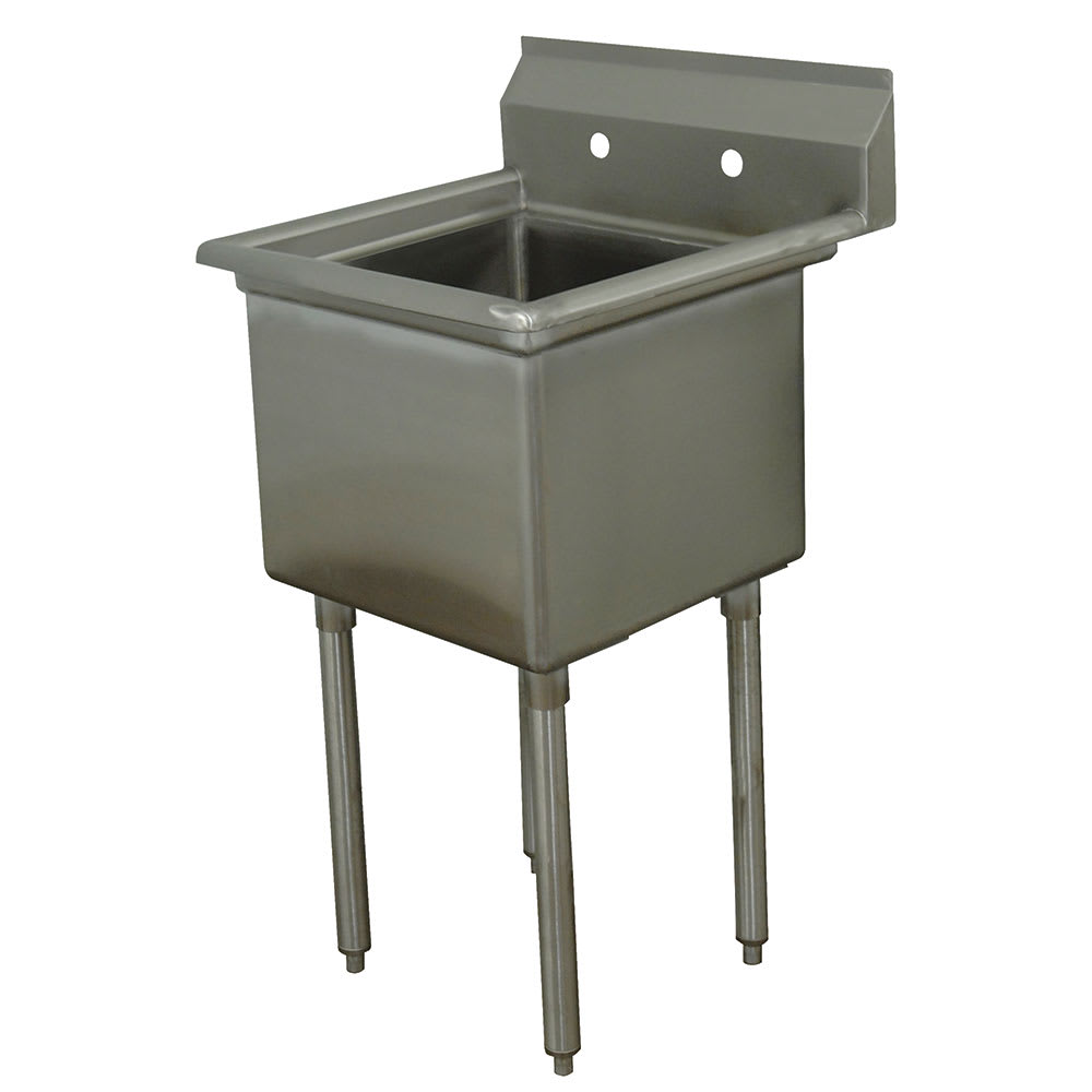 "Advance Tabco FE-1-1824-X 45"" 1-Compartment Sink w/ 18""L x 24""W Bowl, 14"" Deep"