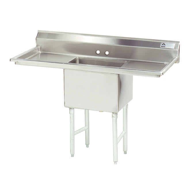 "Advance Tabco FS-1-1824-18RL 54"" 1 Compartment Sink w/ 18""L x 24""W Bowl, 14"" Deep"