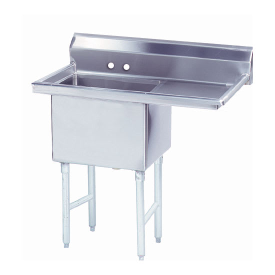 """Advance Tabco FS-1-2424-18R 44.5"""" 1-Compartment Sink w/ 24""""L x 24""""W Bowl, 14"""" Deep"""