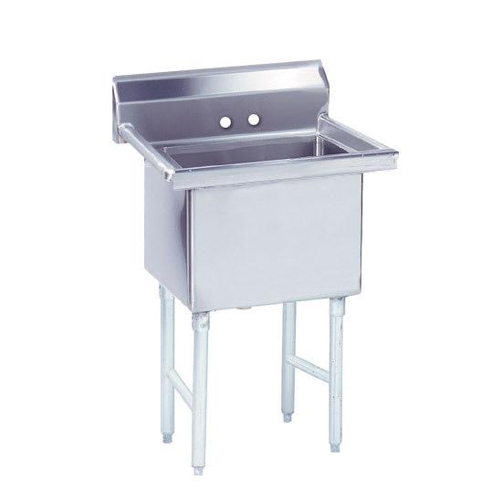 """Advance Tabco FS-1-3024 35"""" 1-Compartment Sink w/ 30""""L x 24""""W Bowl, 14"""" Deep"""