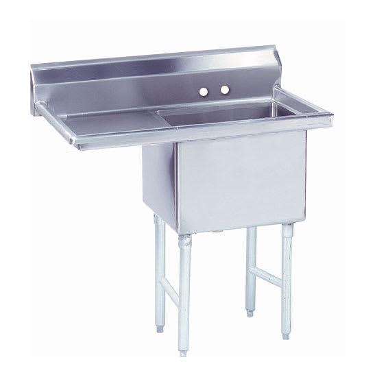 """Advance Tabco FS-1-3024-24L 56.5"""" 1-Compartment Sink w/ 30""""L x 24""""W Bowl, 14"""" Deep"""