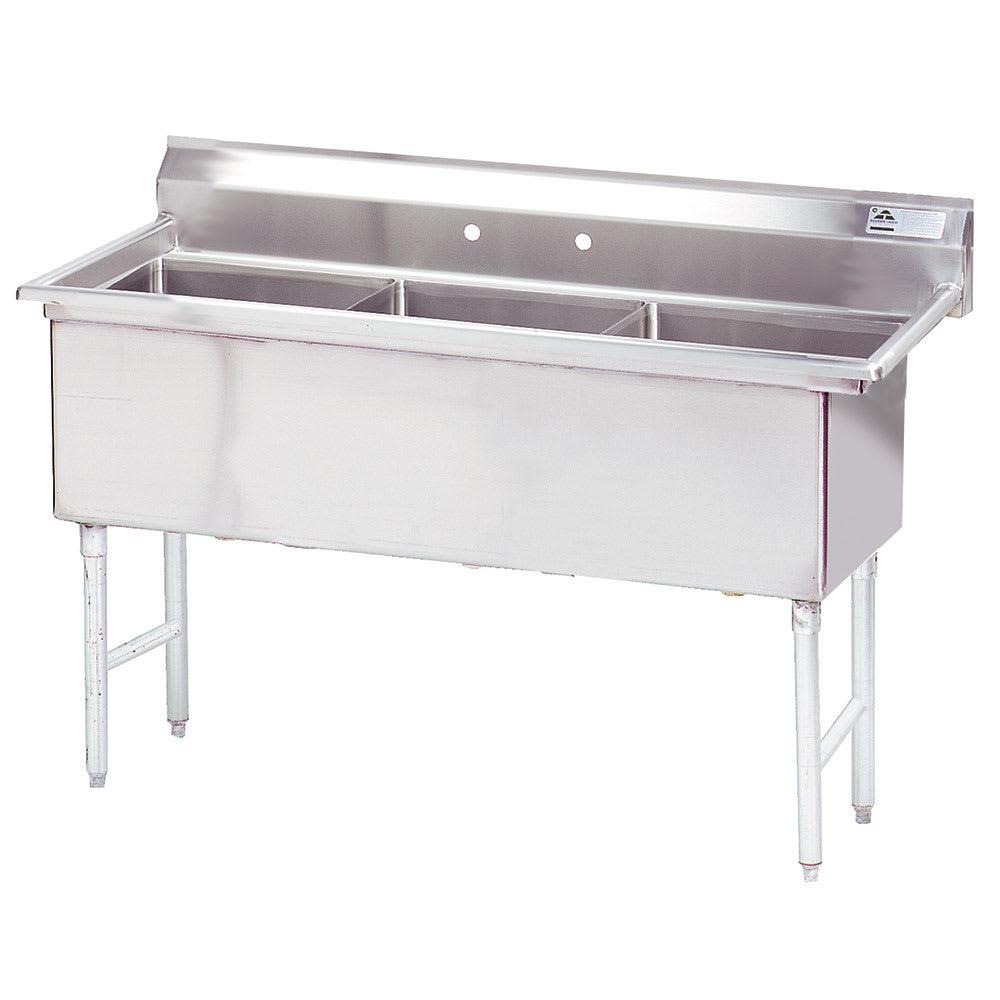 """Advance Tabco FS-3-1824 59"""" 3 Compartment Sink w/ 18""""L x 24""""W Bowl, 14"""" Deep"""
